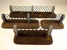 How to make #Wargaming #Terrain for 40k and modern #tabletop war games - Chain Link - Cyclone - Metal Security Fencing