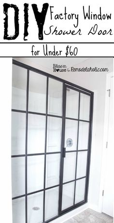 DIY Industrial Factory Window Shower Door (for Under $60) | Bless'er House - Whaaaat?! This is my favorite bathroom project ever!