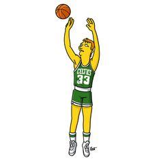 Les légendes vivantes de NBA : Larry Bird