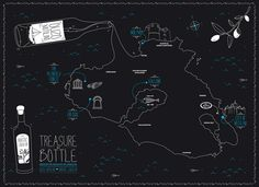 treasure in a bottle | dolphins // communication design