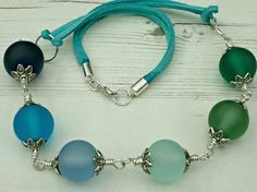 Handmade Lampwork bead necklace #beach wedding #vacation jewelry #holiday necklace