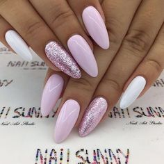 "If you're unfamiliar with nail trends and you hear the words ""coffin nails,"" what comes to mind? It's not nails with coffins drawn on them. It's long nails with a square tip, and the look has. Bright Summer Nails, Spring Nails, Summer Nails 2018, Nail Summer, Bright Pink Nails, Acrylic Nails For Summer 2018, Bright Colors, Bright Acrylic Nails, White Summer Nails"