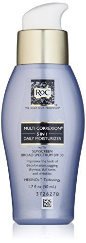 RoC Multi Correxion 5 in 1 Anti-Aging Daily Face Moisturizer with SPF Ounces Drug Store Face Moisturizer, Natural Moisturizer, Moisturizer With Spf, How To Grow Eyebrows, Broad Spectrum Sunscreen, Oils For Skin, Anti Aging Skin Care, Best Makeup Products, Beauty Products