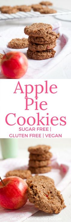 Vegan Apple Pie Cookies | Sugar-free Baking | Gluten free baking | Healthy Baking