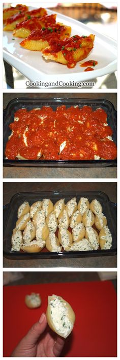 Ricotta Stuffed Shells Recipe - I& going the easy way out and using pre-made sauce! But I found my dinner! Ricotta Stuffed Shells Recipe - I& going the easy way out and using pre-made sauce! But I found my dinner! Think Food, I Love Food, Good Food, Yummy Food, Tasty, New Recipes, Cooking Recipes, Favorite Recipes, Recipies