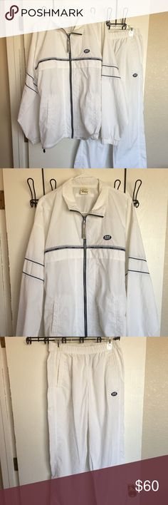 Asics Men's Casual Warm Up's Asics Casual Men's Warm Up's. Light Weight, 2 Piece, Jacket is XL, Pants is 34/36 waist and 32 inseam Asics Other