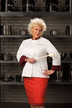 Anne Burrell. Host of Secrets of a Restaurant Chef and Worst Cooks in America.