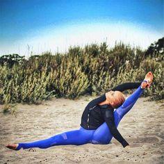 Designer Side Mesh Panel Black Women's Leggings Yoga Workout Capri Pants