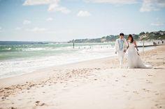 A cool aqua colour themed wedding on Bournemouth beach | Wedding inspiration | www.weddingsite.co.uk