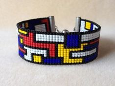 Collage Mondrian Colors Bracelet ($78)