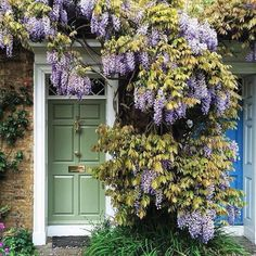 The English Country Cottage - The English Country Cottage - . - The English Country Cottage – The English Country Cottage – - English Country Decor, English Country Gardens, Cottage Front Doors, Purple Wisteria, Climbing Flowers, Felt Flowers, Pretty Pictures, Garden Landscaping, Garden Path