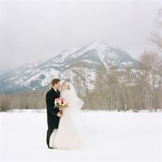Nice and cozy for this #winter wedding couple! #JustMarried