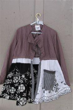 upcycled clothing linen coat duster spring fashion Boho