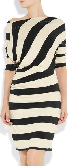 VIVIENNE WESTWOOD ANGLOMANIA   Arianna striped jersey dress.