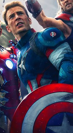 Captain America from Age Of Ultra poster