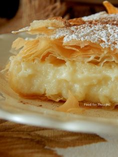 Greek Sweets, Greek Desserts, Greek Recipes, Sweet Buns, Sweet Pie, Pastry Art, Macaron Recipe, Baking And Pastry, Cake Cookies
