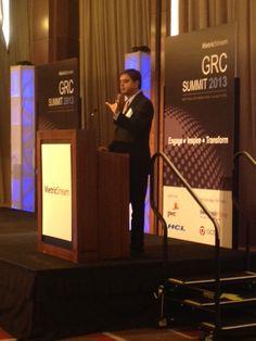 MetricStream GRC Summit 2013 at the Mandarin Oriental Hotel in Las Vegas  - Gunjan Sinha, Executive Chairman, MetricStream, during his keynote 'The Future – Pervasive GRC'