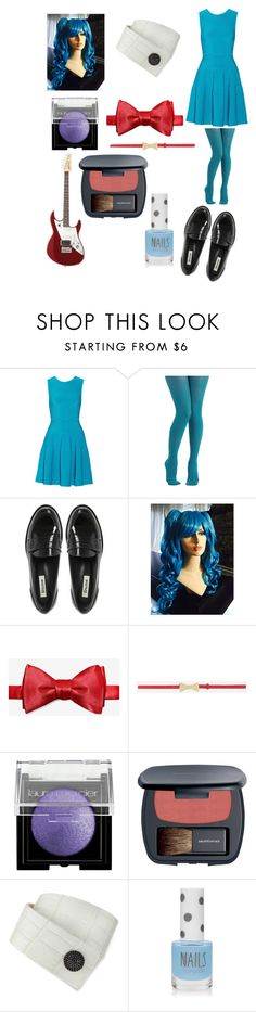 """""""Five Nights at Freddy's Toy Bonnie Outfit"""" by ender1027 ❤ liked on Polyvore featuring Issa, Dune, CHARLES & KEITH, Laura Mercier, Bare Escentuals, KATIE Design and Topshop"""