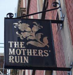 Pub Sign Art a la cARTe: The Mothers' Ruin - Bristol
