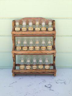 23 Best Spice Racks Images In 2017 Vintage Bottle Wood Spice Rack