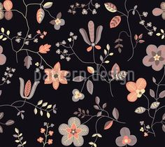 Romantic Floral Pattern, designed by Irina Arnautu    High-quality Vector Pattern from patterndesigns.com