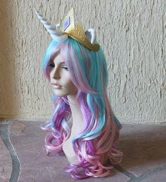 Princess Celestia costume wig - my little pony - friendship is magic.