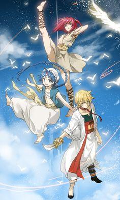 Tags: Anime, MAGI: The Labyrinth of Magic, Aladdin (Magi), Ali Baba Saluja, Morgiana