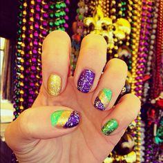 Mardi Gras Nails. @Katelyn McColley is a rockstar