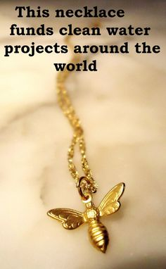 Bee Necklace by WafflesandHoney on Etsy, $24.00 - made by a friend from college sooooo cute AND for a good cause!