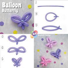 Baloon Diy, Diy Ballon, Balloon Crafts, Balloon Decorations Party, Butterfly Balloons, Bubble Balloons, Balloon Flowers, Balloon Bouquet, Easy Balloon Animals