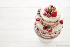 Naked Strawberry Rasberry Shortcake, How To Make (almost) Any Cake