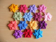 Crochet Star flower - tutorial. These little flowers are really very pretty.