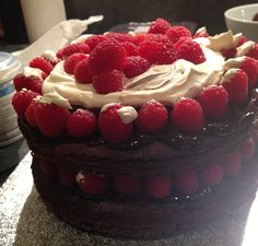 Lorraine Pascale Chocolate Cake With Raspberries