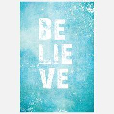 Believe Print 11x14  by Fresh Words Market