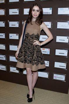 March 2013 → Wearing a Louis Vuitton dress