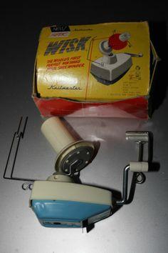 Vintage Retro Knitmaster Super Wisk Wool Winder Machine Table clamp Desktop