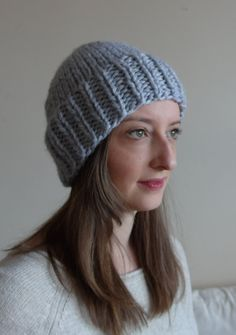 chunky knit toque / wool blend by purlknitting on Etsy