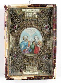 Andachtsbild, Klosterarbeit. | Bild Nr.1