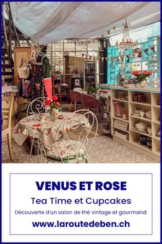 Venus et Rose English Tearoom est un petit salon de thé vintage situé dans le village d'Ollon en Suisse. Avec ses inspirations anglaises, il saura régaler les amateur du royaume-unis. #teatime #vintage #suisse #ollon #cupcakes Venus, Restaurants, Cupcakes, English, Bar, Rose, Home Decor, Vintage Tea, Switzerland