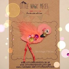 Flamingo Hair Clip by Little Magic Pieces