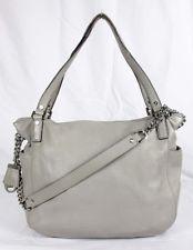 MICHAEL KORS CHANDLER Pearl Grey Leather MD Satchel Shoulder Bag  Msrp $348.00