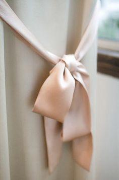 A simple length of wide, soft ribbon. Satin Bows, Pink Satin, Ribbon Bows, Ribbons, Satin Sash, Pink Silk, Blush Rose, Blush Pink, Peach Rose