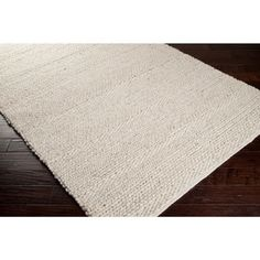 Hand-woven Casual Solid White Aniak Wool Rug (8' x 10') - Free Shipping Today - Overstock.com - 14177795 - Mobile