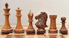 Beautiful Staunton Chess Set Shesham Wood (Golden rose wood)
