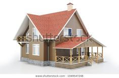 Find Modern House On White Background stock images in HD and millions of other royalty-free stock photos, illustrations and vectors in the Shutterstock collection. Thousands of new, high-quality pictures added every day. Shed, Royalty Free Stock Photos, Outdoor Structures, Cabin, Architecture, House Styles, Illustration, Modern, Pictures