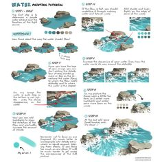 """art-res: """" dzun: """"""""Water painting tutorial"""" by Dżun """" An excellent tutorial on water by the talented in honor of Tilikum. Captivity is terrible for these gentle, highly intelligent animals. Digital Art Tutorial, Art Painting, Digital Drawing, Drawings, Drawing Tutorial, Digital Painting Tutorials, Art, Digital Painting, Water Painting"""