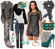 """""""Turquoise and Lace"""" by sunluvnblond on Polyvore"""