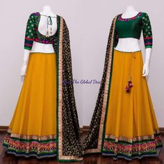 Lehenga Designs Simple, Choli Designs, Kurta Designs, Saree Blouse Designs, Indian Bridal Fashion, Indian Wedding Outfits, Indian Outfits, Half Saree Lehenga, Anarkali