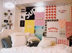 Gray Baby Room: 60 Ideas for Decorating with Photos - Home Fashion Trend Teen Room Decor, Room Ideas Bedroom, Bedroom Wall, Cute Room Decor, Bedroom Decor, Girls Bedroom, Bedroom Furniture, Kid Furniture, Bedrooms