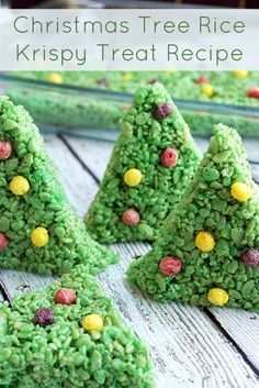 This easy rice krispy treat recipe makes the cutest Christmas trees ever! Uses an original recipe with a few additions. Perfect for the holidays, tasty, and the whole family can join in. It's the best!
